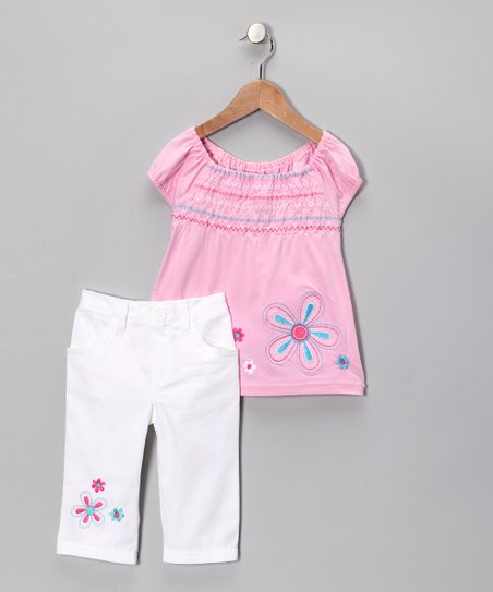 Pink Flower Tunic & Pants - Toddler & Girls