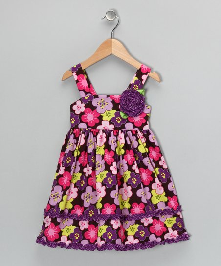 Purple Floral Dress - Toddler & Girls