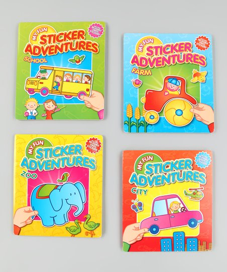 My Fun Sticker Adventures Board Book Set