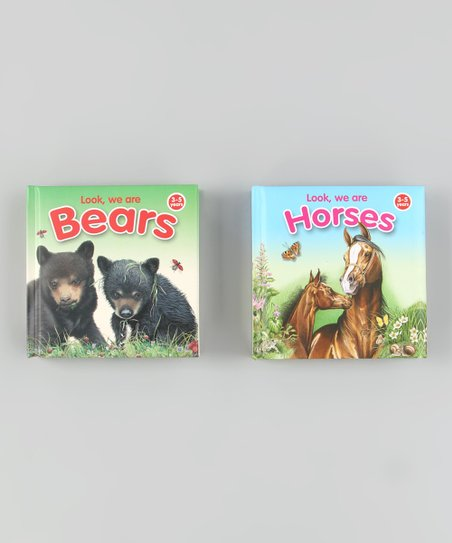 Look We Are Horses & Look We Are Bears Hardcovers