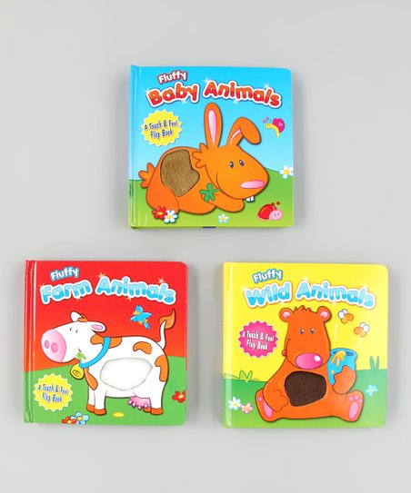 Fluffy Friends Touch & Feel Board Book Set 1
