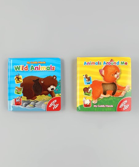My Cuddly Friends Animals Around Me &amp; Wild Animals Board Books