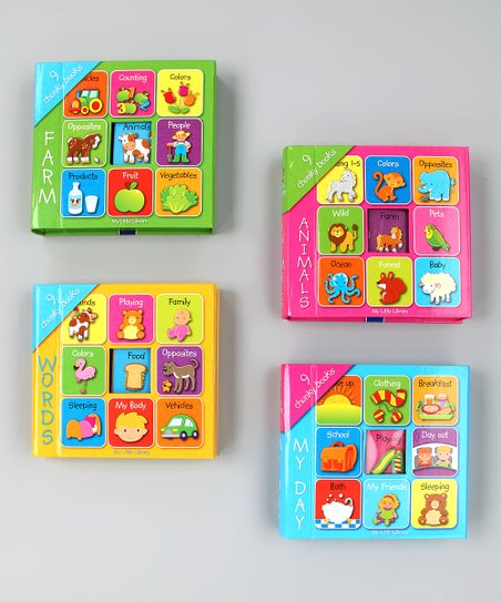 My Mini Library Board Book Set