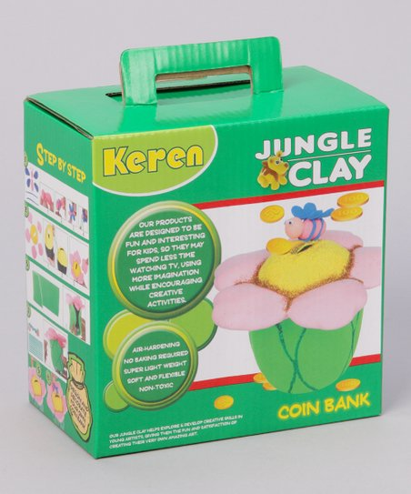 Flower Jungle Clay Piggy Bank Kit