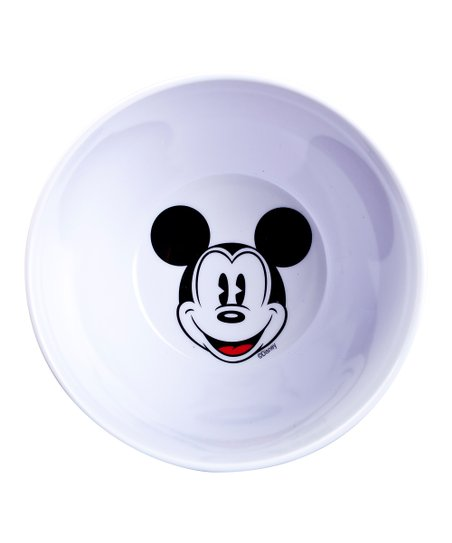White & Red Mickey Mouse Bowl - Set of Two