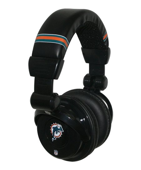 Miami Dolphins Microphone Headphones