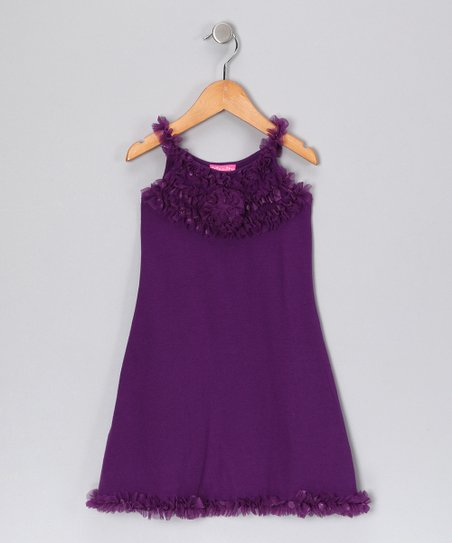 Purple Rosette Dress – Toddler & Girls