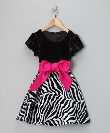 Hot Pink & Zebra Dress - Toddler