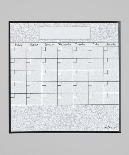 Paisley Fridge Calendar