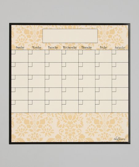 Wheat Brocade Fridge Calendar