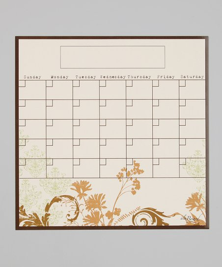 Floral Collage Fridge Calendar