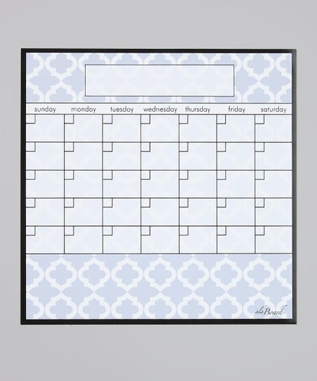 Blue Lattice Fridge Calendar