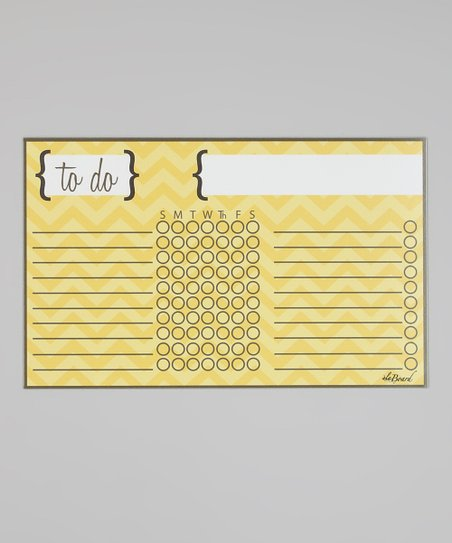 Yellow Chevron Stripe Magnetic Chore Chart
