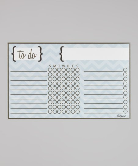 Blue Chevron Stripe Magnetic Chore Chart