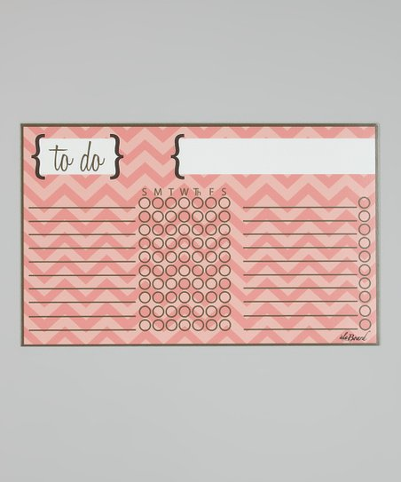 Pink Zigzag Magnetic Chore Chart