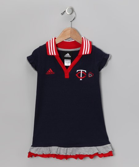 Navy Twins Polo Dress - Toddler & Girls