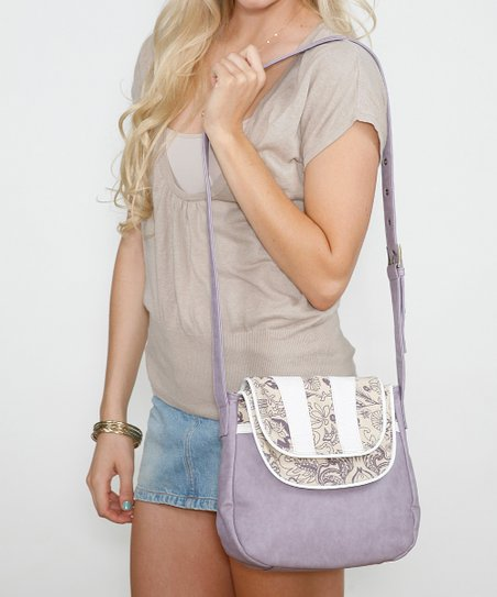 Lilac Hyacinth Organizer Crossbody Bag