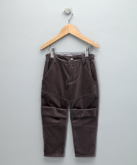 Gray Velvet Slim Pants - Toddler &amp; Boys