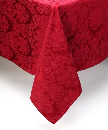Wine Damask Tablecloth