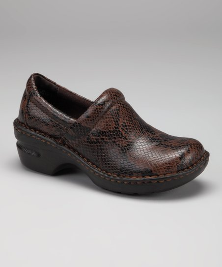 Brown Snake Peggy Clog
