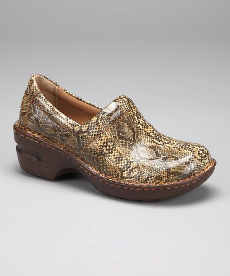 Natural Snake Peggy Clog