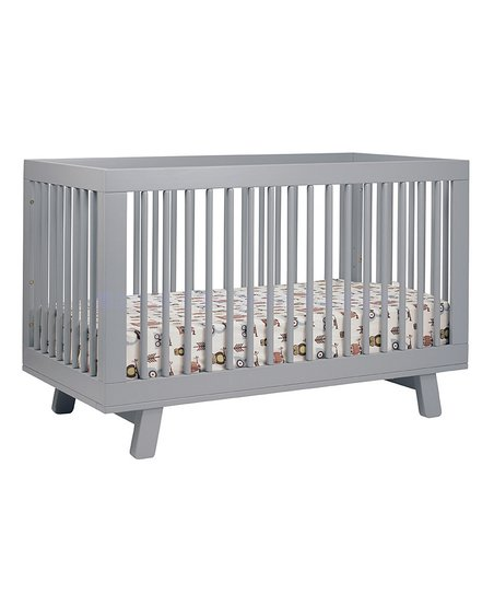 Gray Hudson 3-In-1 Convertible Crib & Toddler Rail