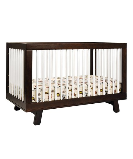 Espresso & White Hudson 3-In-1 Convertible Crib & Toddler Rail