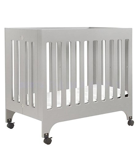 Gray Grayson Portable Mini Crib & Mattress Pad