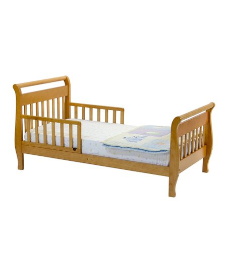 babymod Honey Oak Sleigh Toddler Bed