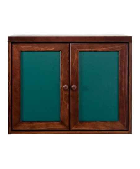 Espresso & Green Two-Door Cupboard