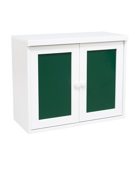 White & Green Two-Door Cupboard