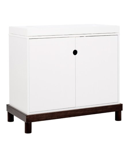 babymod White & Espresso Olivia Two-Door Changing Table