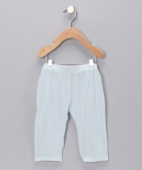 Ice Blue Pocket Organic Pants - Infant