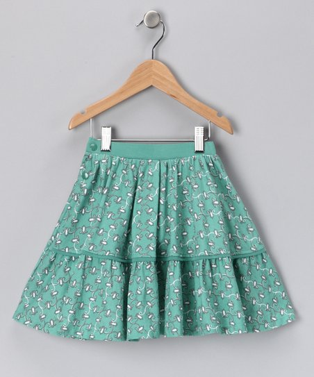 Green Peggy Organic Skirt - Toddler & Girls