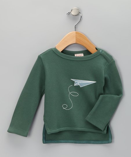 Olive Plane Organic Tee - Infant