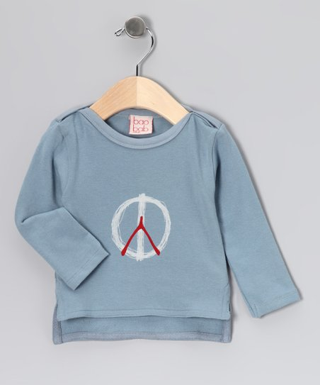 Dusty Blue Peace Organic Top - Infant