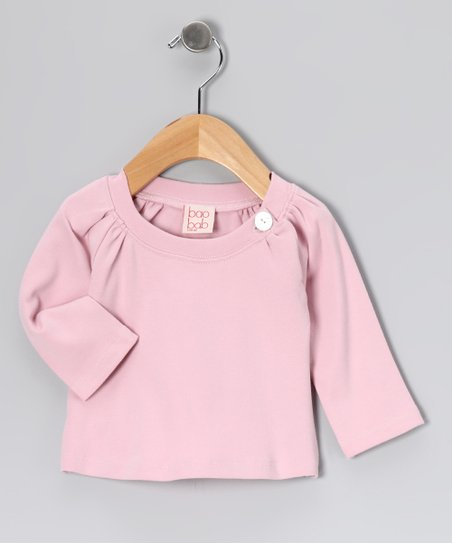 Dusty Pink Button Organic Top - Infant