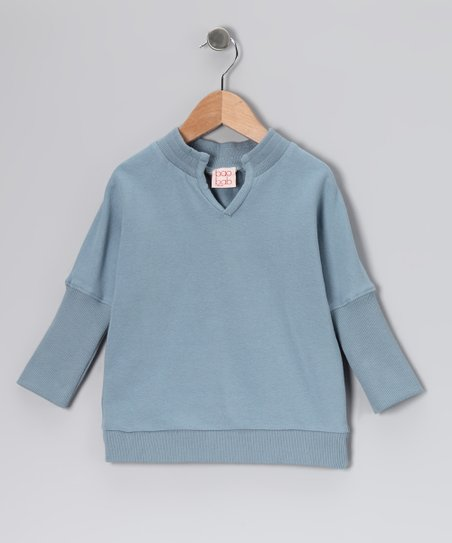 Blue Organic Dolman Top - Toddler & Girls