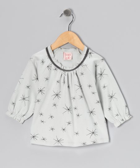 Gray Starburst Organic Top - Toddler &amp; Girls