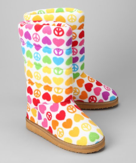 Rainbow Hope Heart Boot