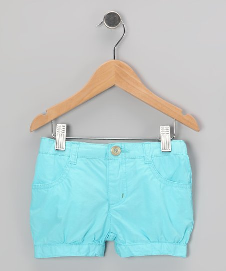Turquoise Bubble Shorts - Infant & Toddler