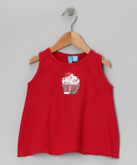 Red Cupcake Top - Infant & Toddler