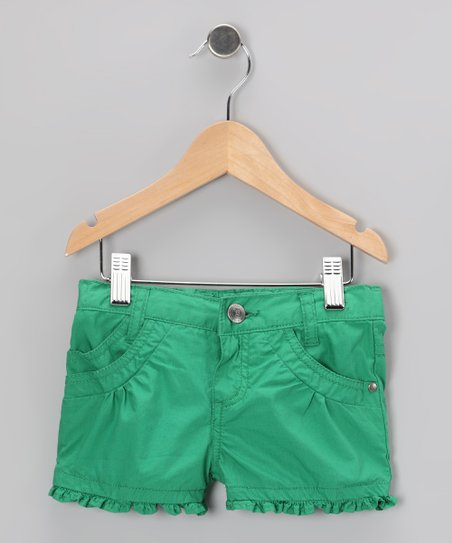 Spring Green Ruffle Shorts - Toddler & Girls