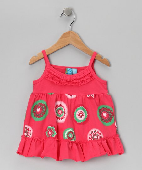Coral Floral Ruffle Top - Toddler & Girls