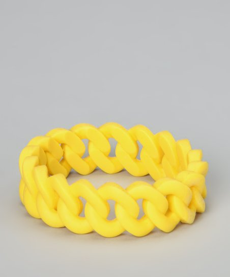 Yellow Linked Bangle