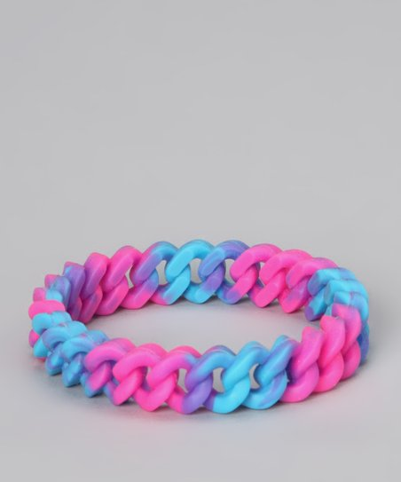 Pink &amp; Blue Linked Bangle