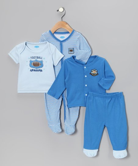 Royal Blue Football Star Layette Set