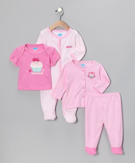 Pink Cupcake &#039;Sweetie&#039; Layette Set