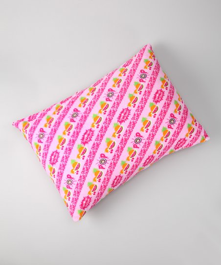 Pink Dum Dums Plush Pillow Sham