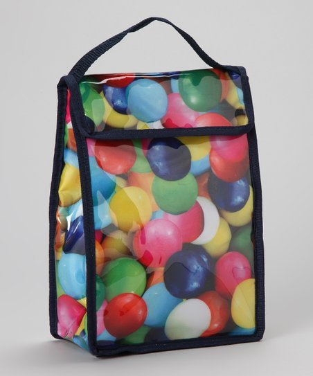 Blue & Black Gumball Lunch Tote